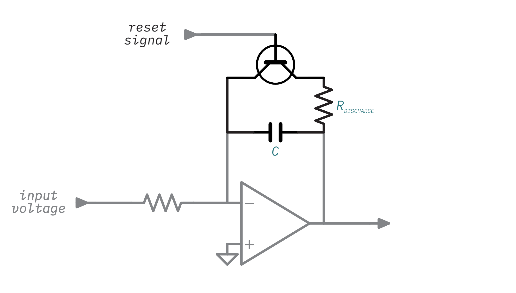 Illustration highlighting the discharge circuit